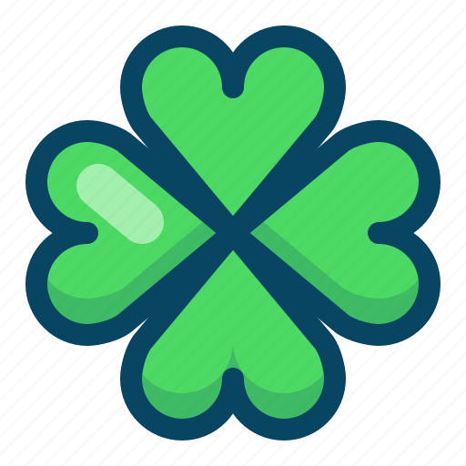 clover, cloverleaf, day, luck, nature, patricks, yumminky icon