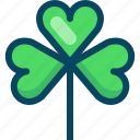 clover, day, luck, nature, patricks, trefoil, yumminky icon