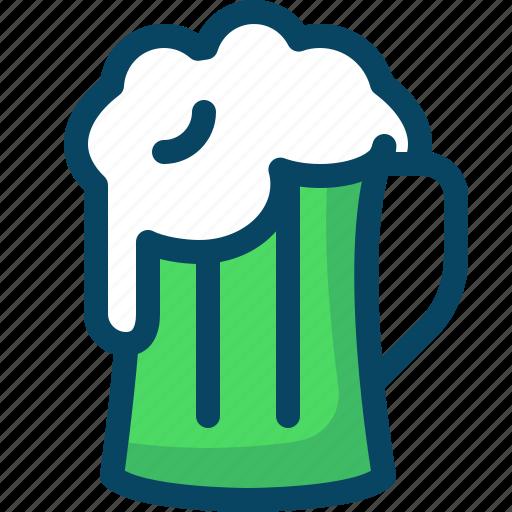 beer, day, drink, glass, patricks, pub, yumminky icon