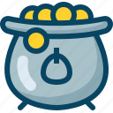 coins, day, kettle, kettledrum, patricks, treasure, yumminky icon