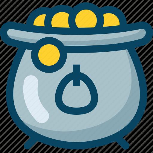 coins, day, kettle, kettledrum, patricks, treasure, yumminky icon