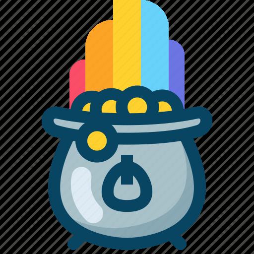 day, kettle, kettledrum, patricks, rainbow, treasure, yumminky icon