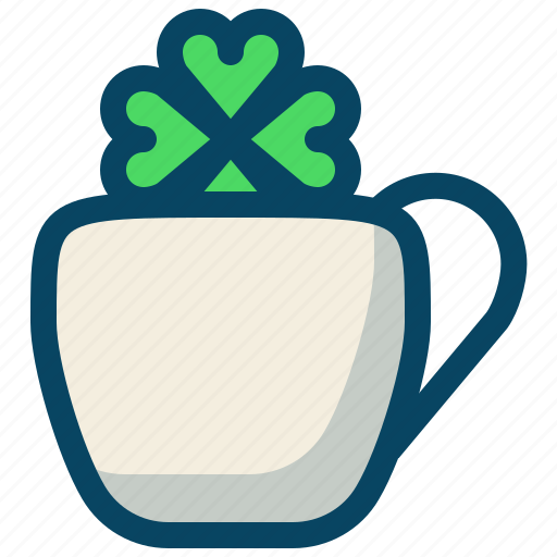 clover, cup, day, drink, patricks, trefoil, yumminky icon