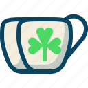 clover, cups, day, drink, patricks, trefoil, yumminky icon