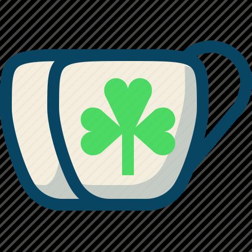clover, cups, day, drink, patricks, trefoil, yumminky icon