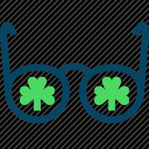 clover, day, glasses, patricks, spectacles, trefoils, yumminky icon