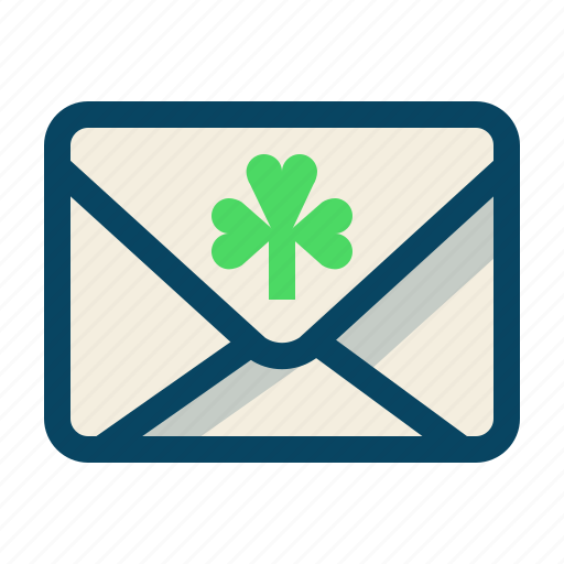 clover, day, mail, message, patricks, trefoil, yumminky icon