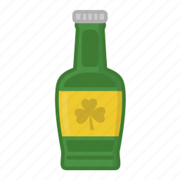 ale, beer, beer bottle, green beer, green bottle, lager, saint patrick's day icon