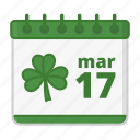 calendar, celebration, festival, holiday, saint patrick's day icon