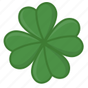clover, four leaves, green leaves, irish, luck icon, saint patrick's day icon