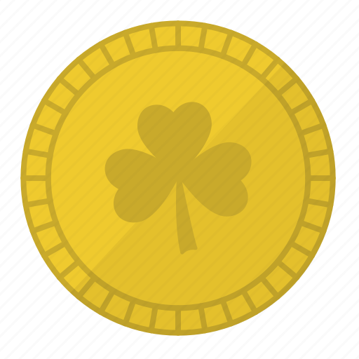 fortune, gold coin, irish, luck, lucky coin, saint patrick's day icon