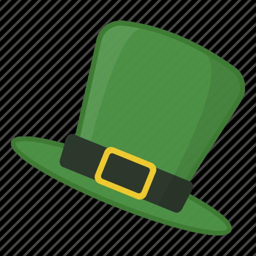 green hat, hat, hat with buckle, irish, leprechaun, saint patrick's day icon