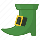 green boot, green shoe, irish, leprechaun, saint patrick's day, shoe icon