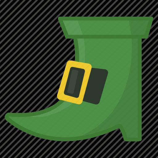 green boot, green shoe, irish, leprechaun, saint patrick's day, shoe icon