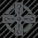 celtic, cross, day, ornament, patricks, st