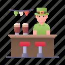 bar, drink, pub, barman