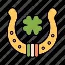 horseshoe, lucky, clover, good, luck