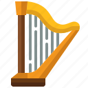 harp, instrument, string, music, entertainment, orchestra