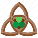 triquetra, celtic, triangle, holy, trinity, shamrock, knot icon