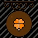 bar, signage, st patricks day, irish, location, place, clover