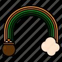 rainbow, st patricks day, irish, treasure, cloud, leprechaun, pot