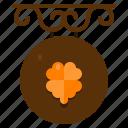 bar, signage, st patricks day, irish, ireland, signboard, clover