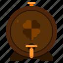 beer, barrel, st patricks day, irish, ireland, clover, beer keg