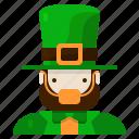 leperchaun, st patricks day, irish, ireland, character, avatar, hat