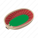 cartoon, field, football, oval, soccer, sport, stadium icon