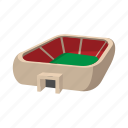 cartoon, field, football, soccer, sport, square, stadium icon