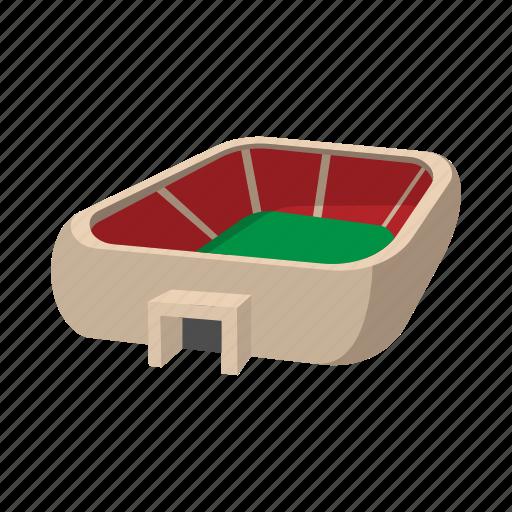 cartoon, field, football, soccer, sport, square, stadium icon