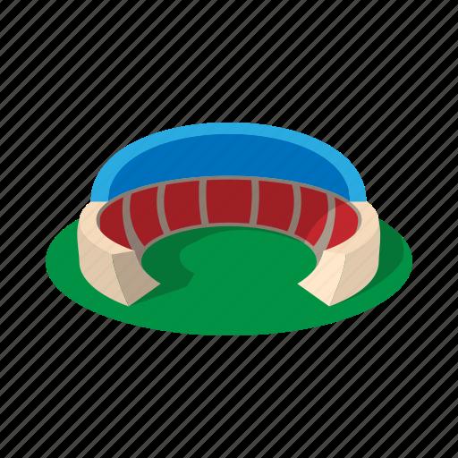 cartoon, field, football, roof, soccer, sport, stadium icon