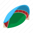 cartoon, field, football, roof, soccer, sport, stadium icon