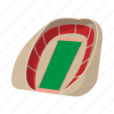 arena, cartoon, field, football, soccer, sport, stadium icon