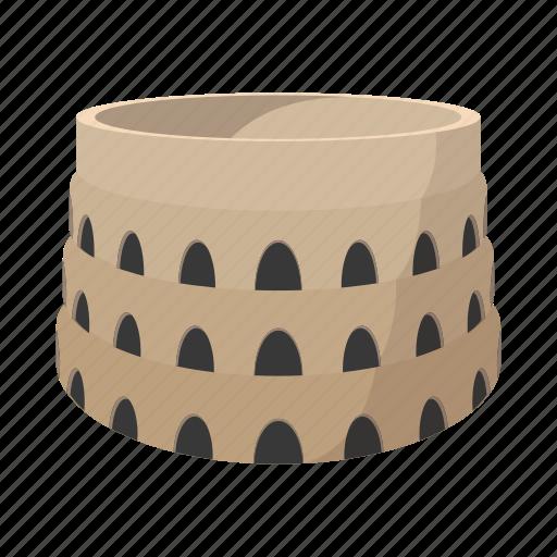 architecture, arena, building, cartoon, coliseum, roman, stadium icon