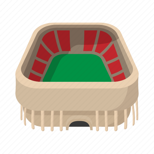 stadium icon. Arena, Cartoon, Field, Football, Soccer, Sport, Stadium Icon 0