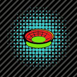 architecture, building, comics, field, football, sport, stadium icon
