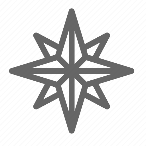 christmas, geometry, star icon