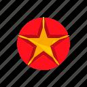 award, bright, cartoon, circle, decoration, shape, star icon