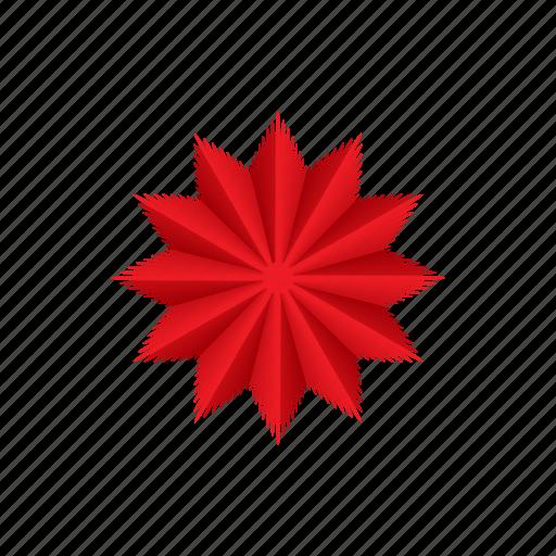 bright, cartoon, celebration, christmas, decoration, point, star icon
