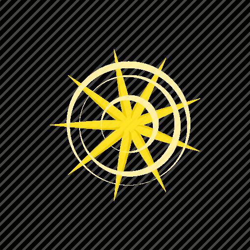 award, bright, cartoon, gold, nine, point, star icon