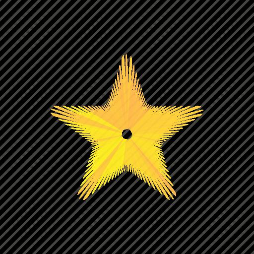award, bright, cartoon, decoration, gold, shape, star icon