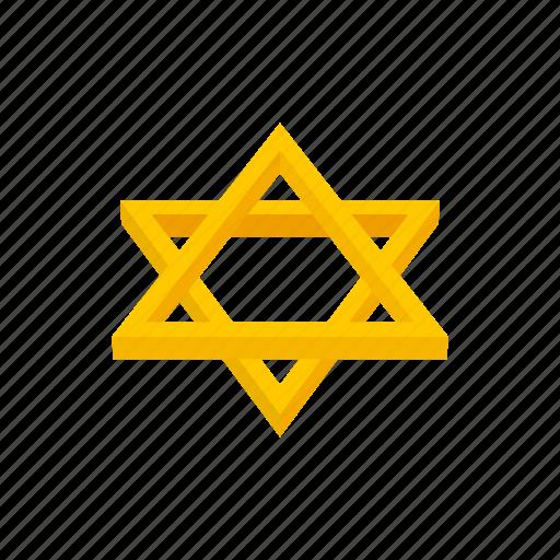 cartoon, david, gold, israel, jewish, religion, star icon