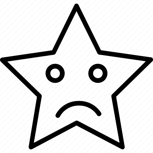 emoji, face, frowning face, smiley, star icon
