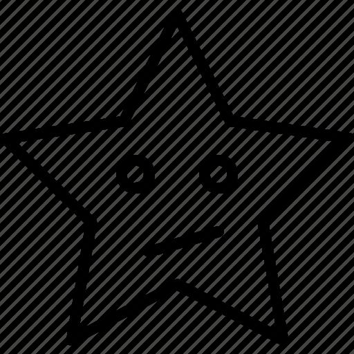 emoji, face, smiley, smirking face, star icon