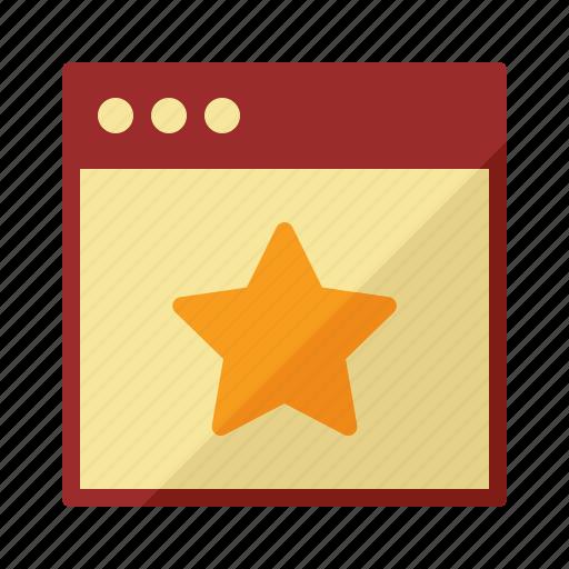 app, software, star, window icon