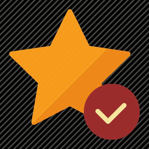check, good, star, tick icon