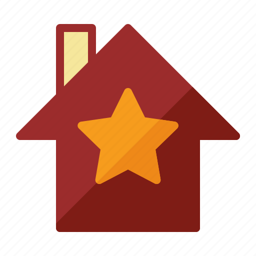 estate, home, house, star icon