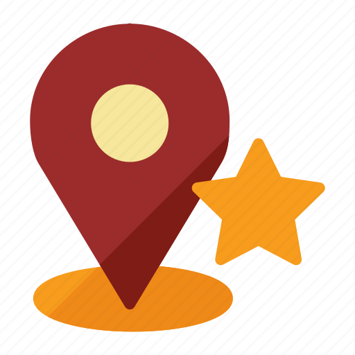 gps, location, map, star icon