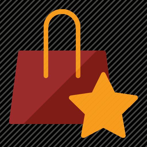 bag, shop, star, store icon